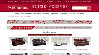 House of Reeves Leather Sofas