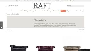 Raft Fabric Sofas