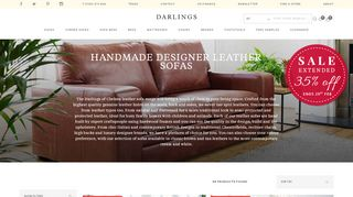 Darlings Of Chelsea Leather Sofas