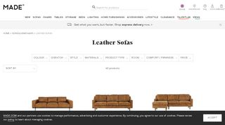 Made Leather Sofas